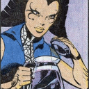 Lilandra makes coffee
