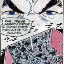 Magneto's eyebrows create a wedge